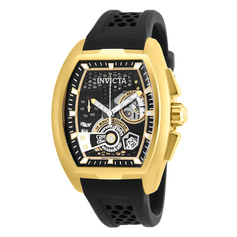 INVICTA S1 Rally Men 42mm Stainless Steel Gold Black+Gold dial Z60 Quartz 26398