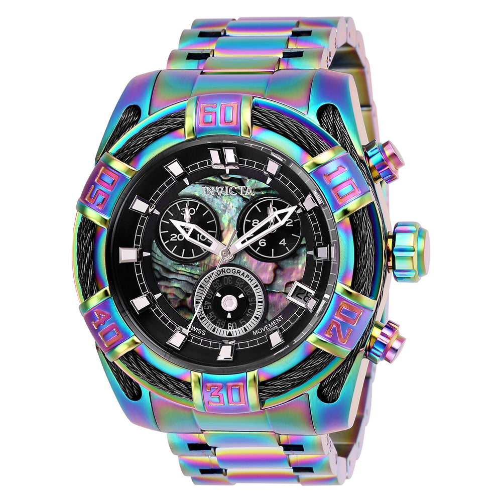 INVICTA Bolt Men 51mm Stainless Steel Iridescent Rainbow dial G10.212 Quartz 26994