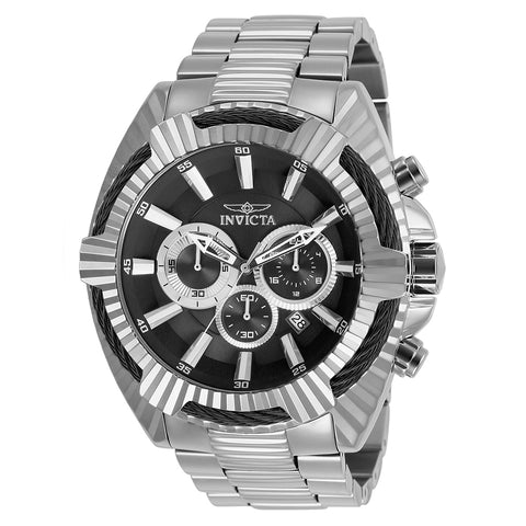 INVICTA Bolt Men 50mm stainless steel Black dial VD53 Quartz 27190