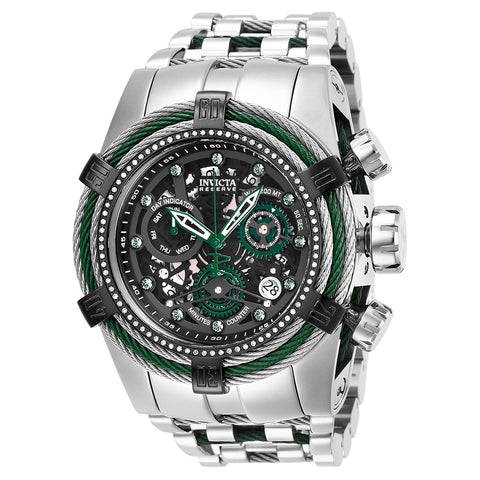 INVICTA Reserve Men 53mm Stainless Steel Black + Green + Stainless Steel Black dial Z60 Quartz 27235