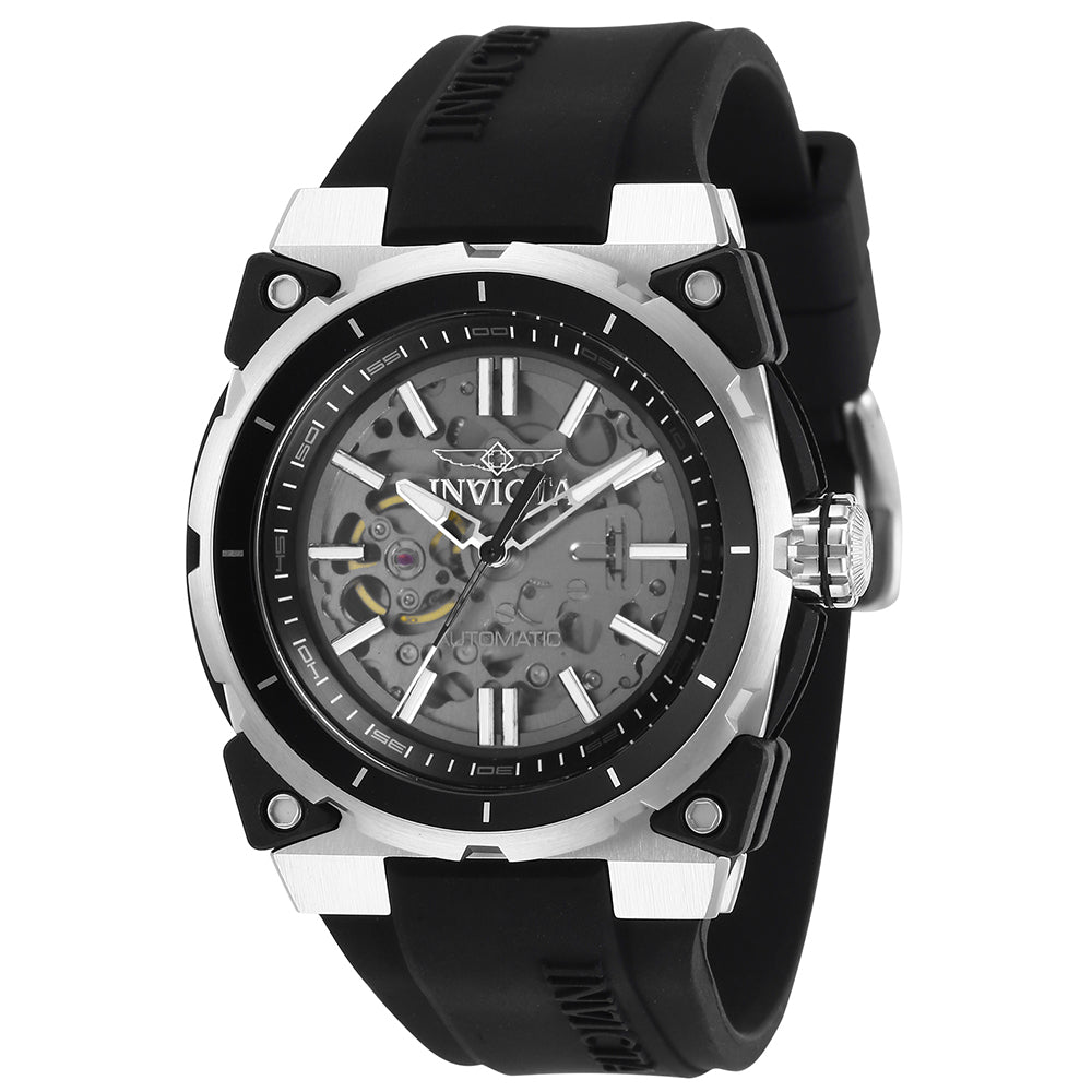INVICTA S1 Rally Men 46mm Stainless Steel Black Black+Transparent dial NH70 Automatic