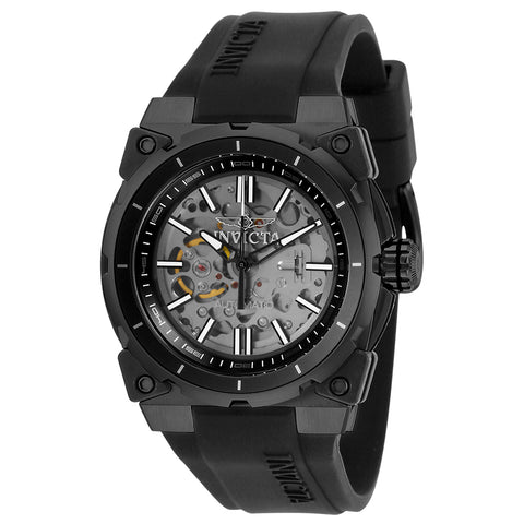 INVICTA S1 Rally Men 46mm Stainless Steel Black Black+Transparent dial NH70 Automatic 27339