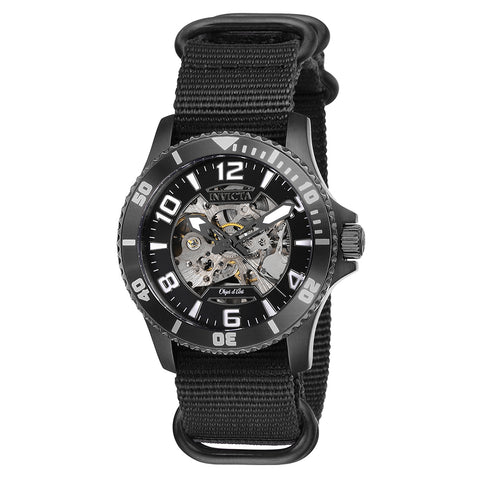 INVICTA Objet D Art Men 42mm Stainless Steel Gunmetal Black dial 2650 (Nickel) Automatic 27593