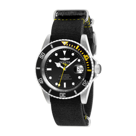 INVICTA Pro Diver Men 42mm Stainless Steel Steel Black dial NH35A Automatic 27624