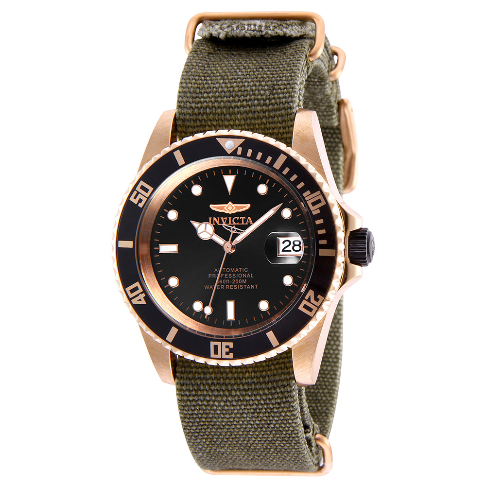 INVICTA Pro Diver Men 42mm Stainless Steel Rose Gold + Black Black dial NH35A Automatic 27627