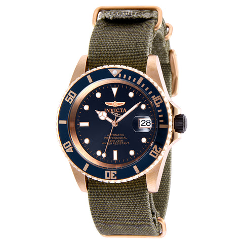 INVICTA Pro Diver Men 42mm Stainless Steel Rose Gold + Black Blue dial NH35A Automatic 27628