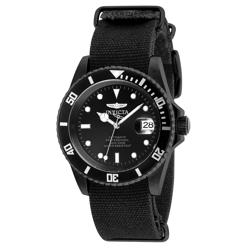 INVICTA Pro Diver Men 42mm Stainless Steel Black Black dial NH35A Automatic 27630