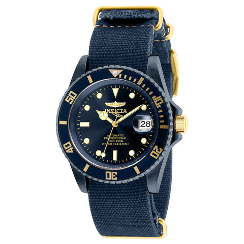 INVICTA Pro Diver Men 42mm Stainless Steel Gold + Blue Blue dial NH35A Automatic 27631