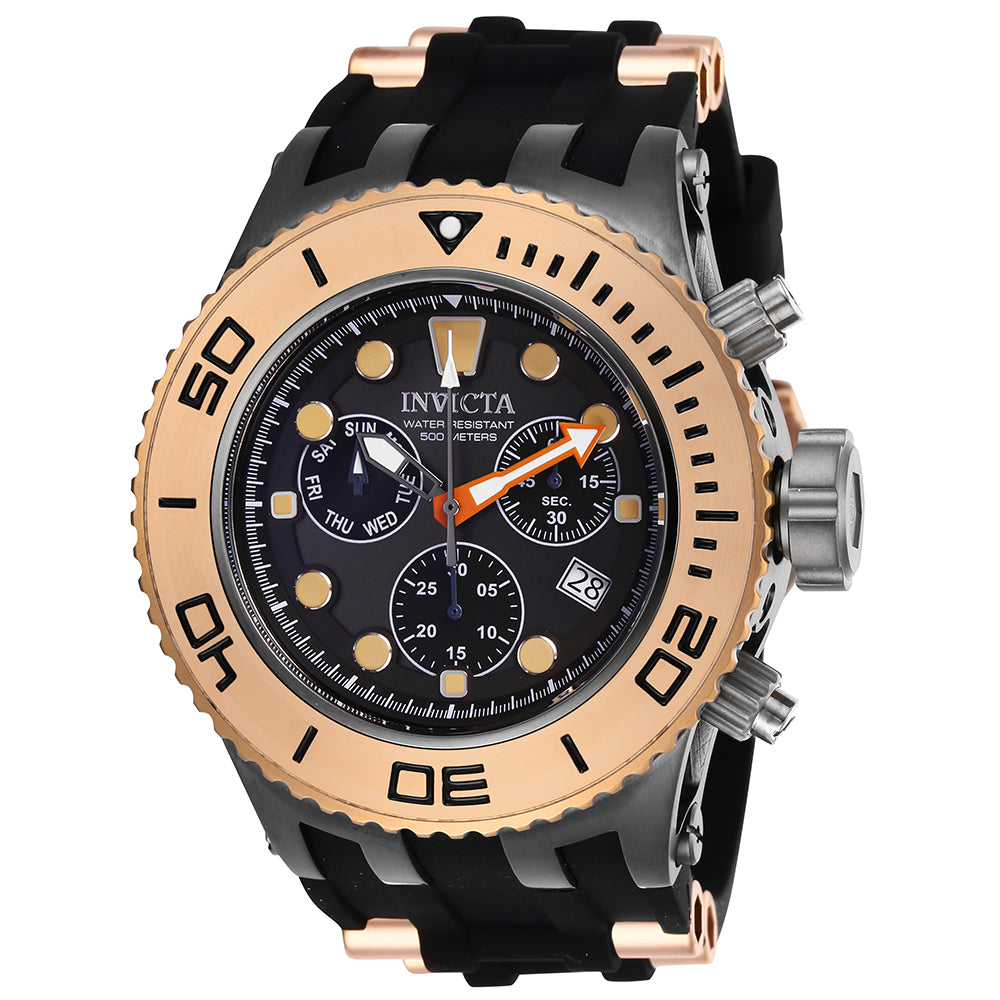 INVICTA Subaqua Men 52mm Stainless Steel Rose Gold + Titanium Black dial Z60 FE Quartz 27659