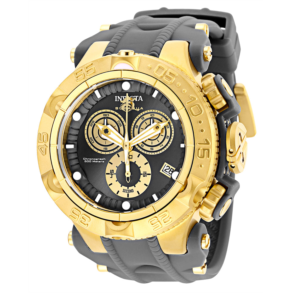 INVICTA Subaqua Men 50mm Stainless Steel + Plastic Gold + Grey Gold+Gunmetal dial G10.211 Quartz 27683