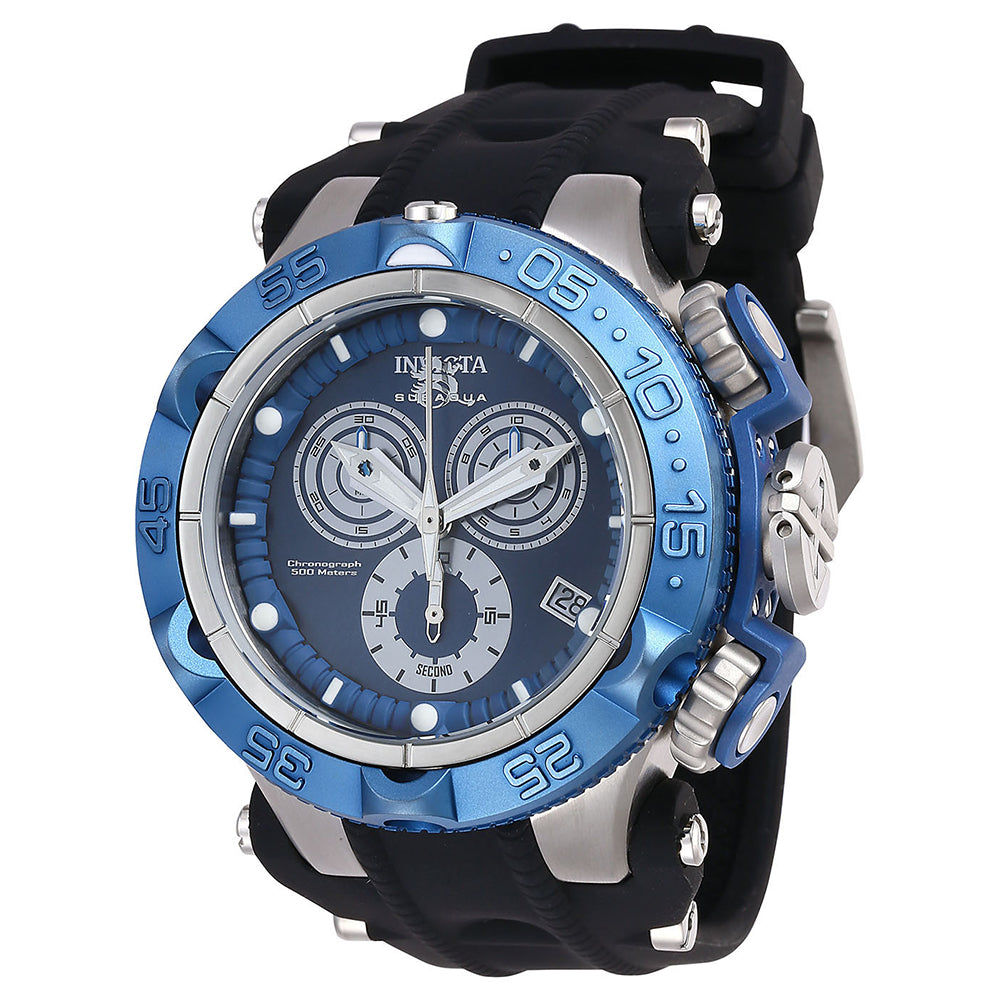 INVICTA Subaqua Men 50mm Stainless Steel + Plastic Black + Stainless Steel Black+Blue dial G10.211 Quartz