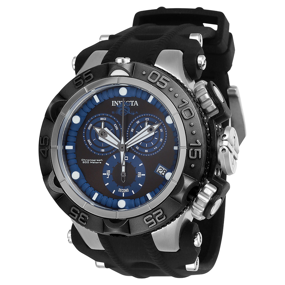 INVICTA Subaqua Men 50mm Stainless Steel + Plastic Blue + Stainless Steel Blue+Silver dial G10.211 Quartz