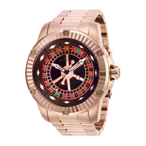 INVICTA Specialty Men 52mm Stainless Steel Rose Gold Brown dial NH35 Automatic 28711