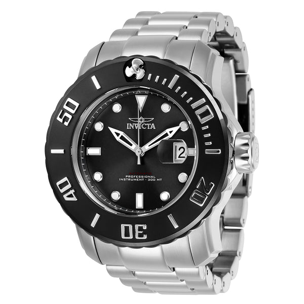 INVICTA Pro Diver Men 50mm Stainless Steel Black + Stainless Steel Black dial NH35A Automatic 29352
