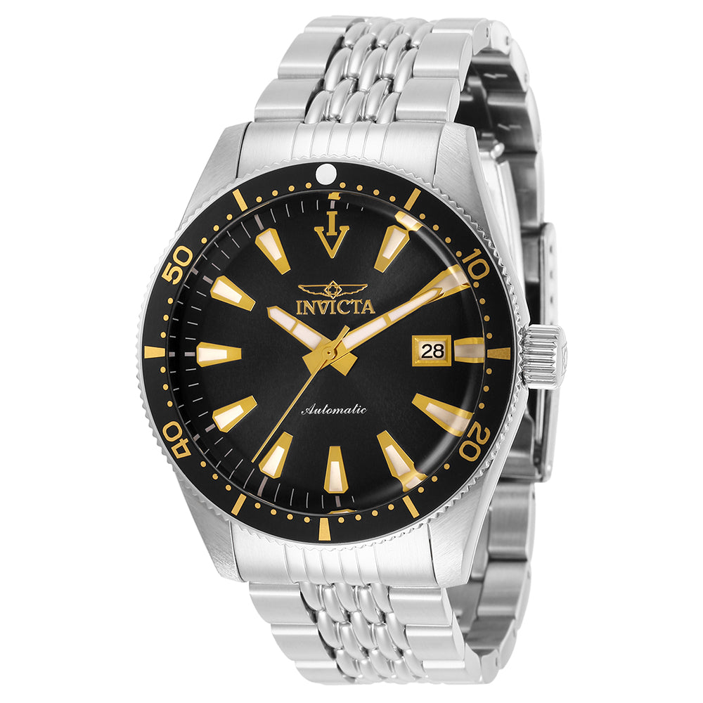 INVICTA Vintage Men 43mm stainless steel Black dial NH35A Automatic 29770