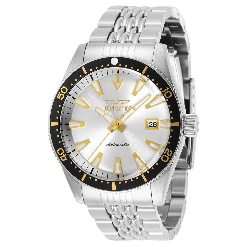 INVICTA Pro Diver Men 43mm Stainless Steel Stainless Steel Black dial PC32 Quartz