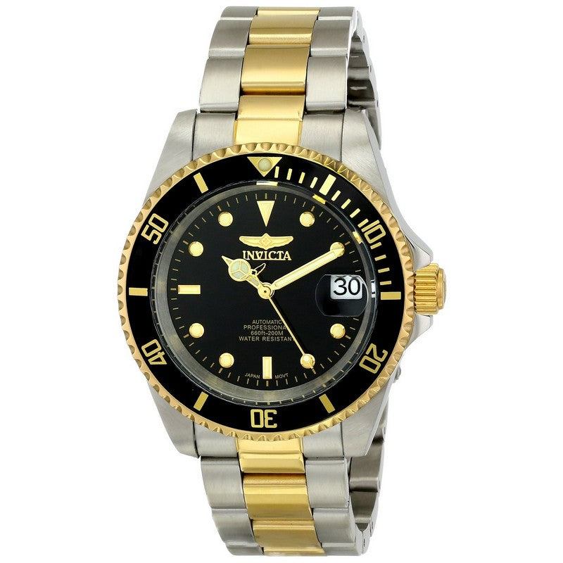 Invicta Pro Diver Automatic Men Gold IP 40mm Stainless Steel Watch 8927OB