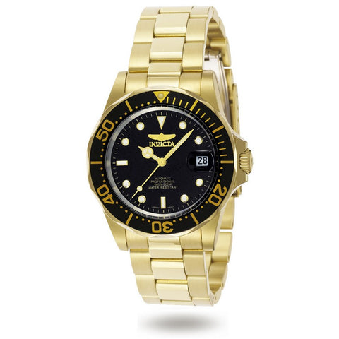 Invicta Pro Diver Automatic Men Gold IP 40mm Stainless Steel Watch 8929