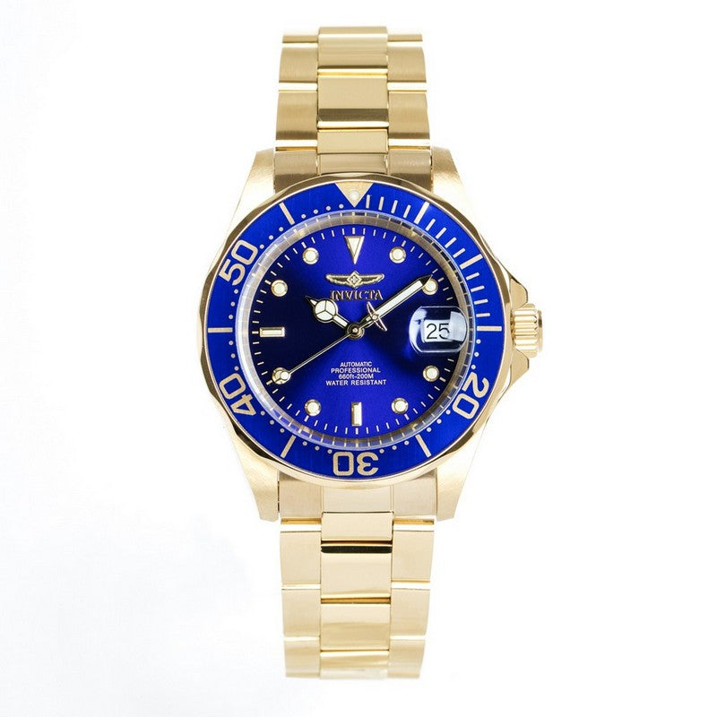 INVICTA Pro Diver Men 40mm Stainless Steel Gold Blue dial NH35A Automatic 8930