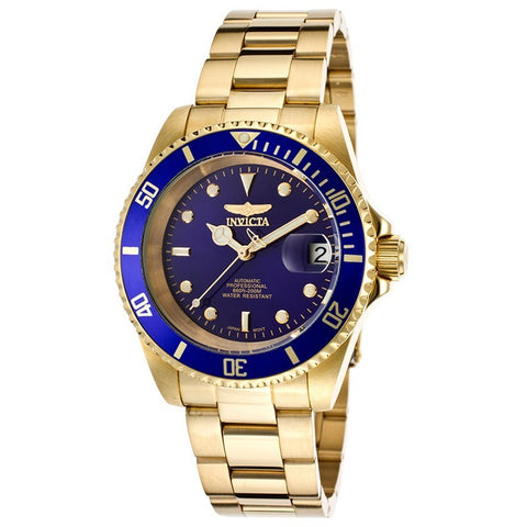 INVICTA Pro Diver Men 40mm Stainless Steel Gold Blue dial NH35A Automatic 8930OB