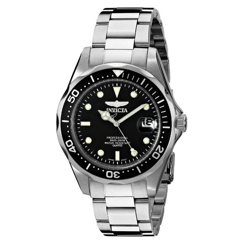 INVICTA Pro Diver Men 37.5mm stainless steel Black dial PC32A Quartz 8932