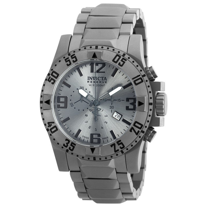 INVICTA Excursion Men 49.5mm Titanium Titanium Silver dial 5040.D Quartz 90154