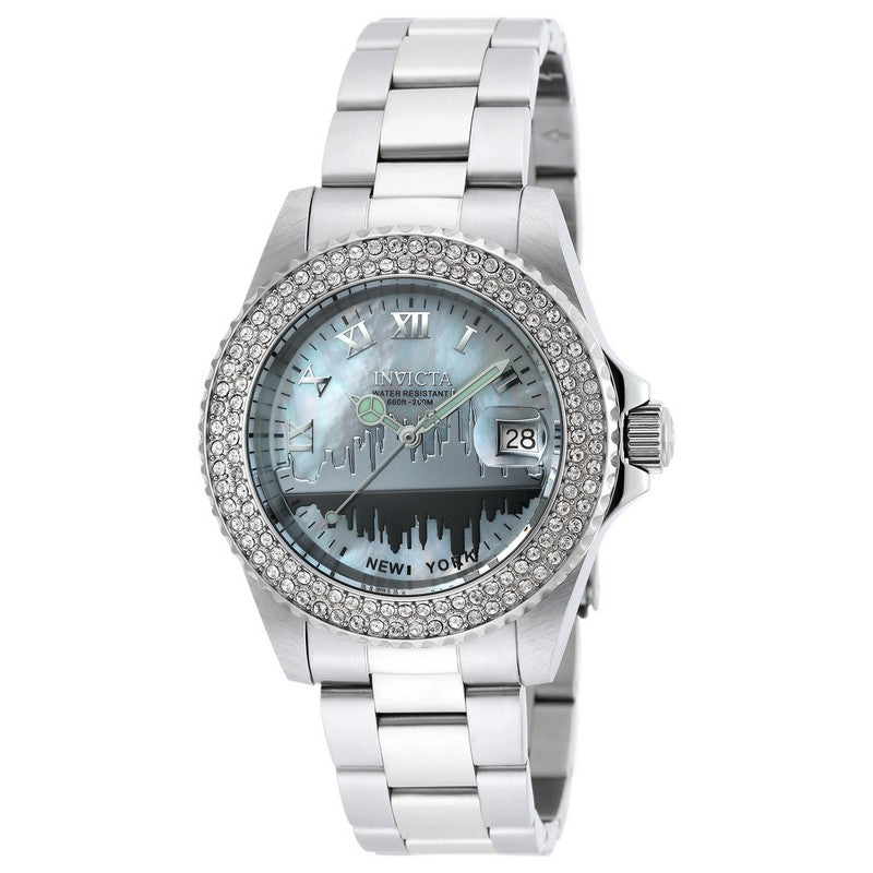 INVICTA Angel Lady 40mm stainless steel White dial 515 Quartz 90288