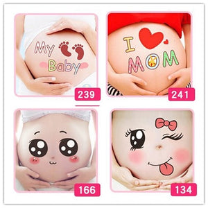 For pregnant women therapy Free shipping maternity photo props Pregnancy photographs belly painting photo stickers