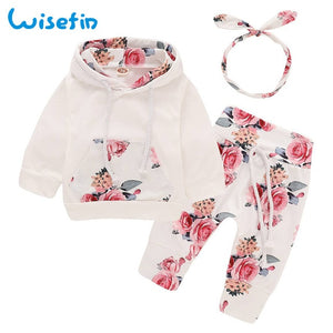 Floral newborn baby girl clothes children's clothing girl tracksuit winter clothing baby girl fall clothes D30
