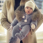 Luxury Baby Knitted Racoon Fur Collar