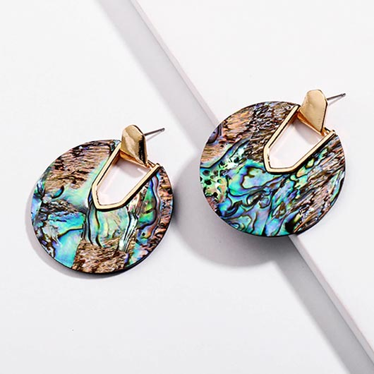 Vashti Earrings in colorful with golden metal
