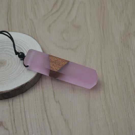Starfall Necklace in light red raisin with wood elements