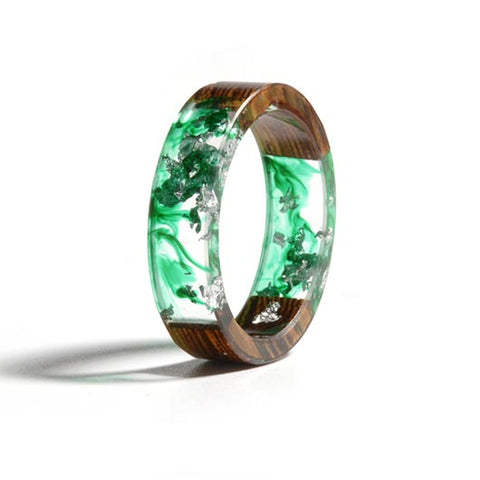 Mary Purity Ring Green Fluid front view
