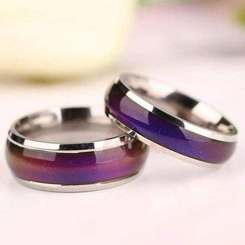 Bethlehem Ring with mood function in violet