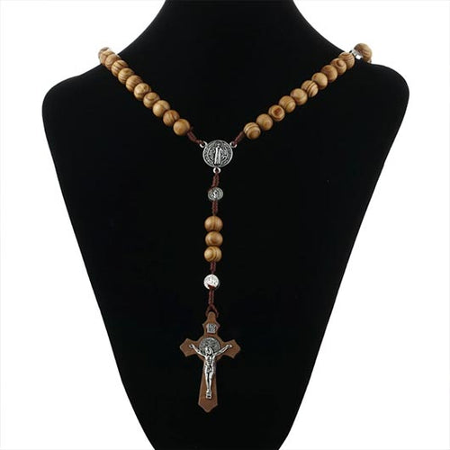 Wooden Bera Rosary with Jesus pendant