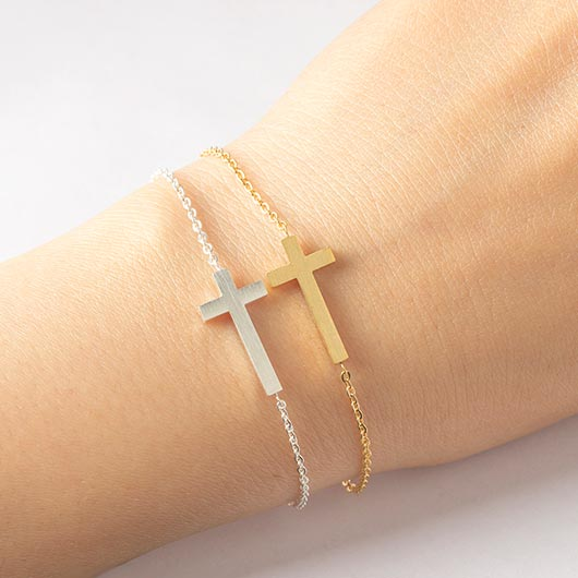 Noah Bracelet with cross in gold and silver Wear On