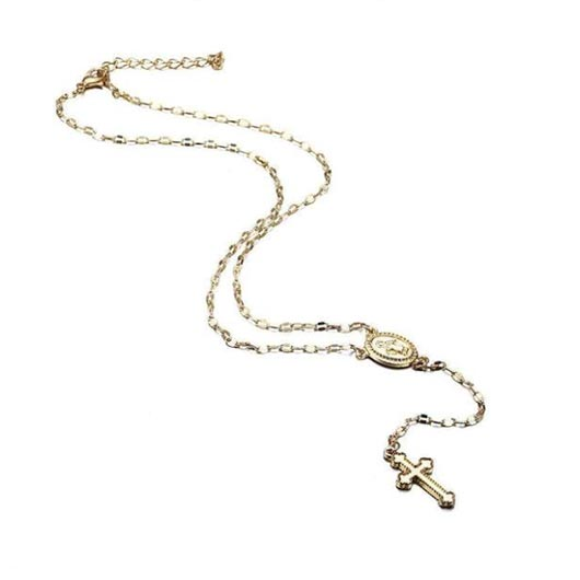 Rose Gold plated Isaak Rosary with Madonna medaillon