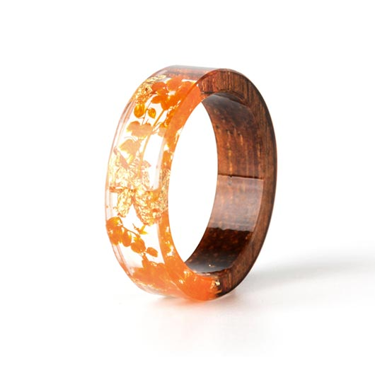 Mary Purity Ring Orange Flowers front view