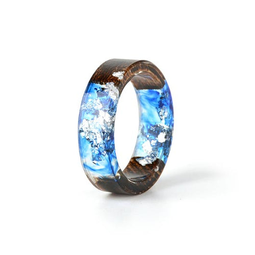 Mary Purity Ring Blue Crystals front view