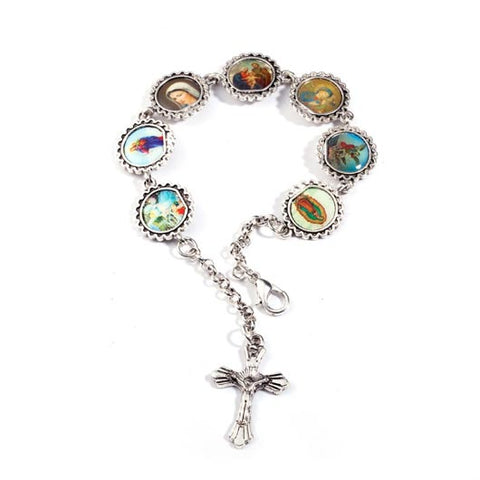 Petrus Bracelet rosary with picture frames in silver