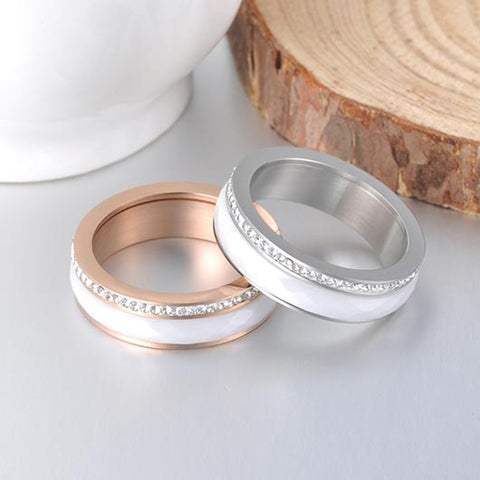 Talitha Purity Ring in rosegold and silver combination