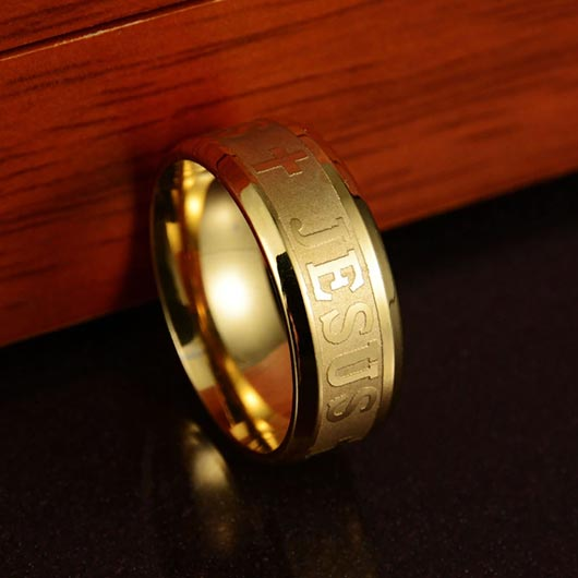 Golden Bartholomäus Ring in stainless steel