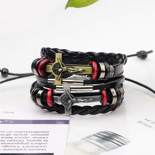 Johannes Leather Bracelet combination show off