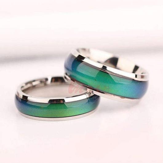 Bethlehem Ring with mood function in green