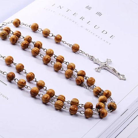 Philippus Rosary with wooden beads and cross pendant