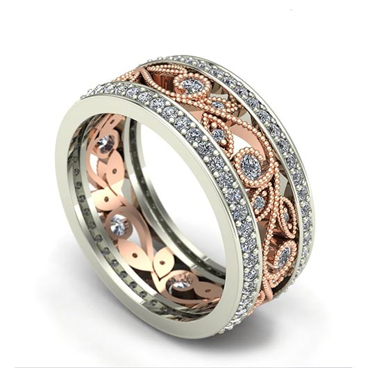 Asa Purity Ring with golden metal and crystals