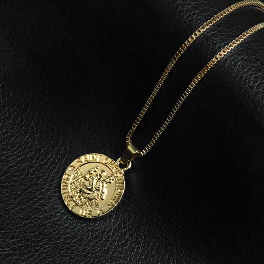 Thaddäus Necklace with coin pendant in gold
