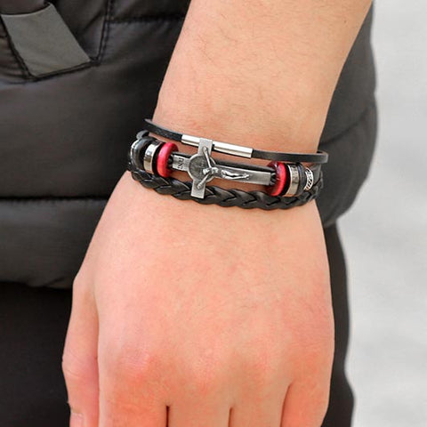 Johannes Leather Bracelet combination Wear On