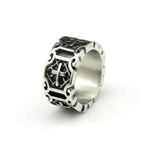 Hosea Ring with stainless steel in silver
