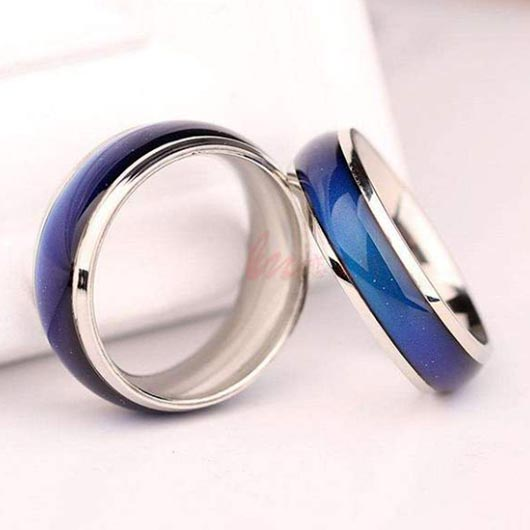 Bethlehem Ring with mood function in blue